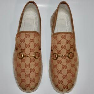Gucci Men GG Monogram Horsebit Loafers Espadrilles